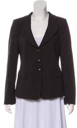 Armani Collezioni Virgin Wool Structured Blazer