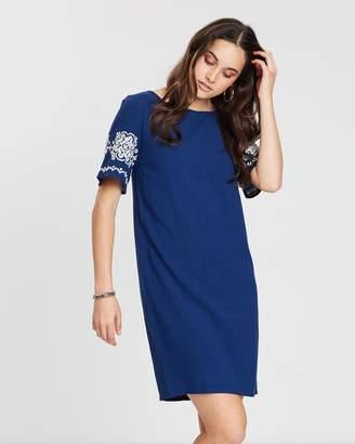 Privilege Embroidery Tee Dress