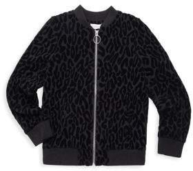 Design History Girl's Long Sleeve Burnout Jacket