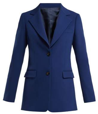 Joseph Lorenzo Tailored Wool Jacket - Womens - Blue
