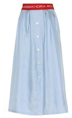 Alessandra Rich Celeste stripe twill skirt