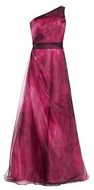 Rene Ruiz Collection Women's One-Shoulder Organza Gown