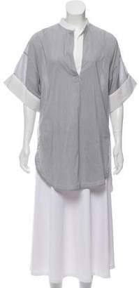 3.1 Phillip Lim Striped Short Sleeve Blouse