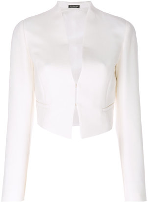 Twin-Set cropped fitted jacket $335.93 thestylecure.com