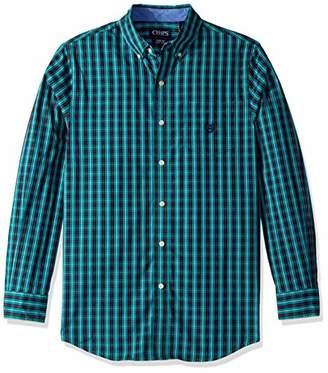 Chaps Men's Plaid ec Stretch Long Sleeve Sport Shirt