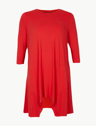 Marks and Spencer CURVE Round Neck 3/4 Sleeve Tunic