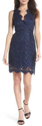 NSR Mia Scalloped Lace Sheath Dress
