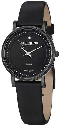 Stuhrling Original Womens Black Strap Watch-Sp13078