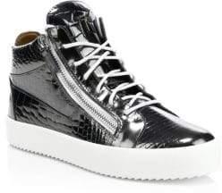 Giuseppe Zanotti Snake Print Double Zip Sneakers