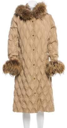 Moncler Jodelle Fur-Trimmed Coat