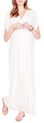 Women's Ingrid & Isabel Split Kimono Sleeve Maternity Maxi Dress $118 thestylecure.com