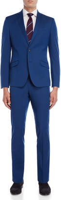 Kenneth Cole Reaction Two-Piece Bright Blue Skinny Fit Solid Suit
