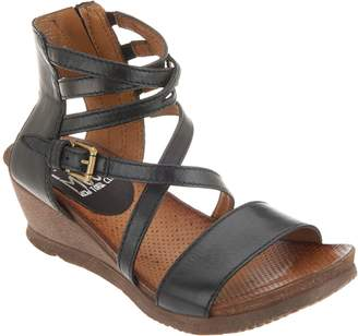 Miz Mooz Leather Multi Strap Wedge Sandals - Shay