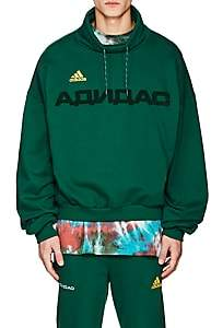 Gosha Rubchinskiy X adidas Men's Logo Cotton French Terry Oversized Hoodie-Green
