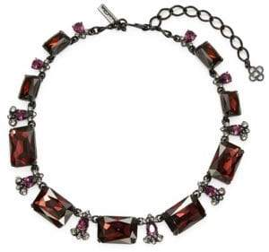Oscar de la Renta Large Octagon Crystal Necklace