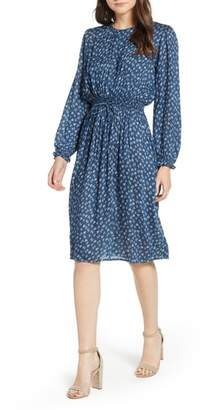 Velvet by Graham & Spencer Floral Gauze Smocked Waist Dress