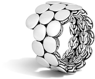 John Hardy Dot Sterling Silver Double Coil Ring $395 thestylecure.com