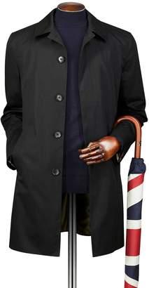 Charles Tyrwhitt Black Cotton RainCotton coat Size 42