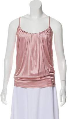 John Galliano Gathered Sleeveless Top