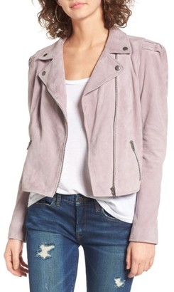 Women's Leith Suede Moto Jacket $298 thestylecure.com