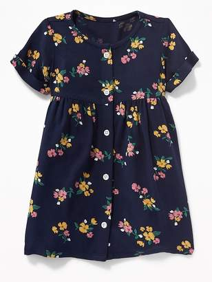 Old Navy Fit & Flare Roll-Sleeve Shirt Dress for Baby