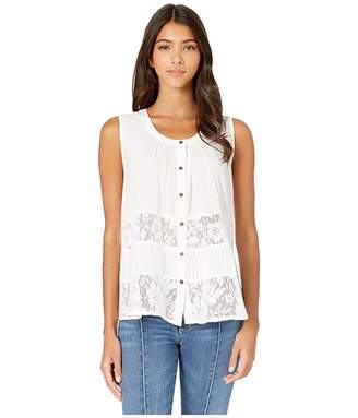 Miss Me Tiered Lace Trim Sleeveless Top
