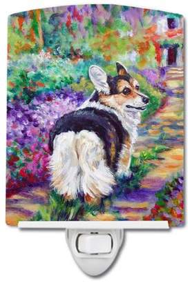 Corgi Caroline's Treasures Garden Path Ceramic Night Light