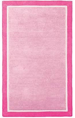 Pottery Barn Teen Capel Border Rug, 5'x8', Pale Pink/Pink Magenta