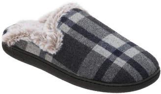 Dearfoams Plaid Scuff Slip-On Slippers