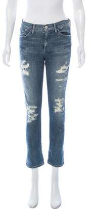 Gold Sign Mid-Rise Straight-Leg Jeans