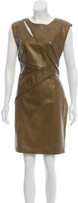 Strenesse Leather Knee-Length Dress