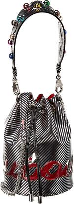 Christian Louboutin Marie Jane Leather & Pvc Bucket Bag
