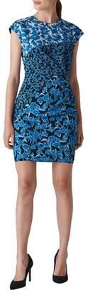 Whistles Jocelyn Cordilla Print Stretch Silk Body-Con Dress