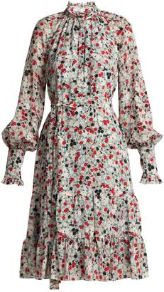 Erdem Eugenie daisy-print silk dress