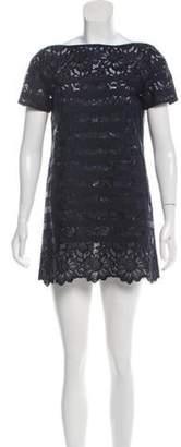 Sacai Luck Lace Mini Dress Blue Luck Lace Mini Dress