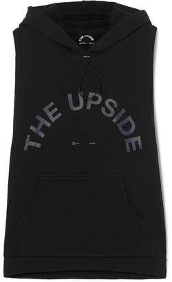 The Upside Printed Stretch-cotton Jersey Hoodie