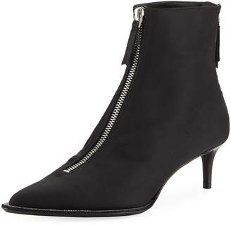 Alexander Wang Eri Diamonte Silk Low-Heel Booties