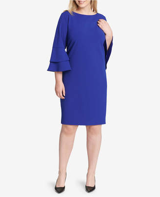 Jessica Howard Plus Size Bell-Sleeve Dress
