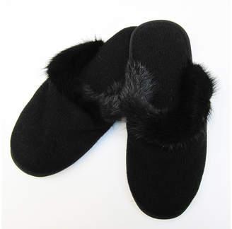 Portolano Cashmere & Mink Fur Slippers