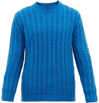 Altea Chunky Ribbed Knit Sweater - Mens - Blue
