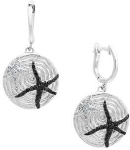 Effy Final Call Diamond & Sterling Silver Starfish Earrings