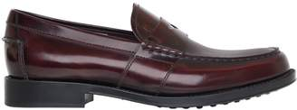 Tod's Brushed Leather Loafers