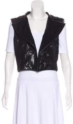 Chanel Leather Metallic Vest w/ Tags
