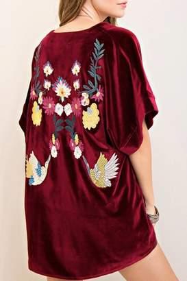 Entro Velvet Embroidered Kimono
