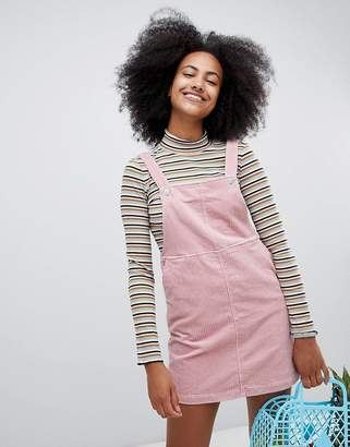Monki Cord Mini Overall Dress