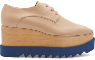 STELLA MCCARTNEY Elyse lace-up platform shoes $604 thestylecure.com