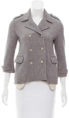 Gryphon Knit Double-Breasted Jacket