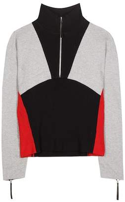 Marni Sporty Zip cotton-blend sweater