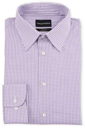Emporio Armani Men's Modern-Fit Tonal Square Dress Shirt