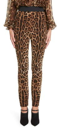 Dolce & Gabbana Leopard Print Cady Leggings